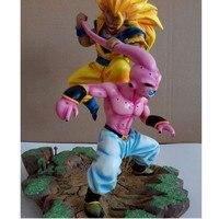 Dragon Ball Супер Saiyan Сон Гоку VS Majin Буу битва сцена скульптура фигурку Коллекция модель игрушки G2176