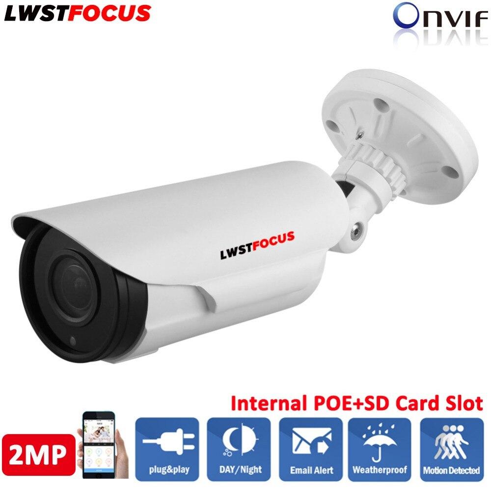 2MP LWSTFOCUS H.265/264 IP Camera 2.8-12mm Manual Zoom Lens IR 60M Built In SD Card Slot POE Network camera 4Pcs Big Array Leds free shipping 20pcs lot rt8206l rt8206qw qfn laptop chips 100% new original quality assurance
