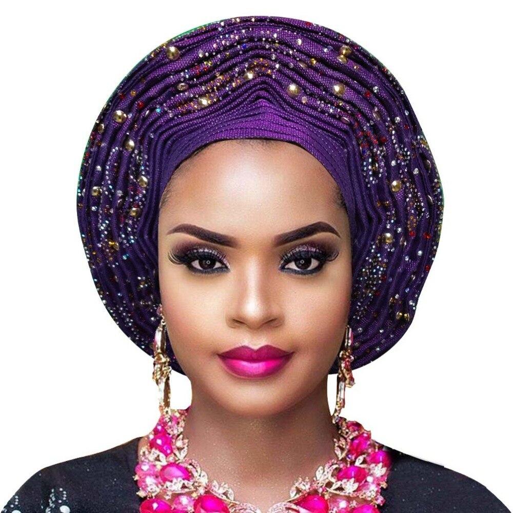 Aso oke gele african headtie nigerian headtie auto gele women headwrap lady wedding turban (9)
