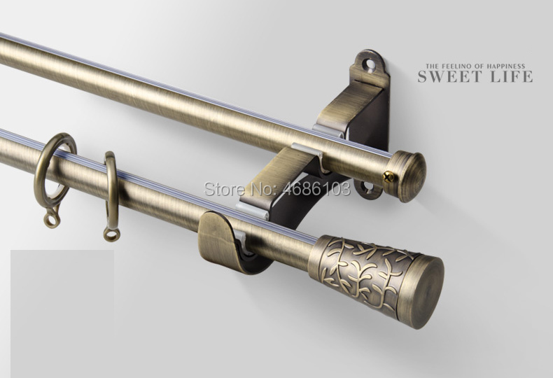 high quality stainless steel curtain rod diameter 19mm double curtain rods and accessories for bedroom study room living room