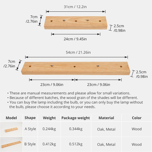 Image 2 - Pendant Lamp Base Nature Oak Wood Polished Base Wall Lamp Bases Pendant Ceiling Handmake Craft Home Decoration DIY Accessories