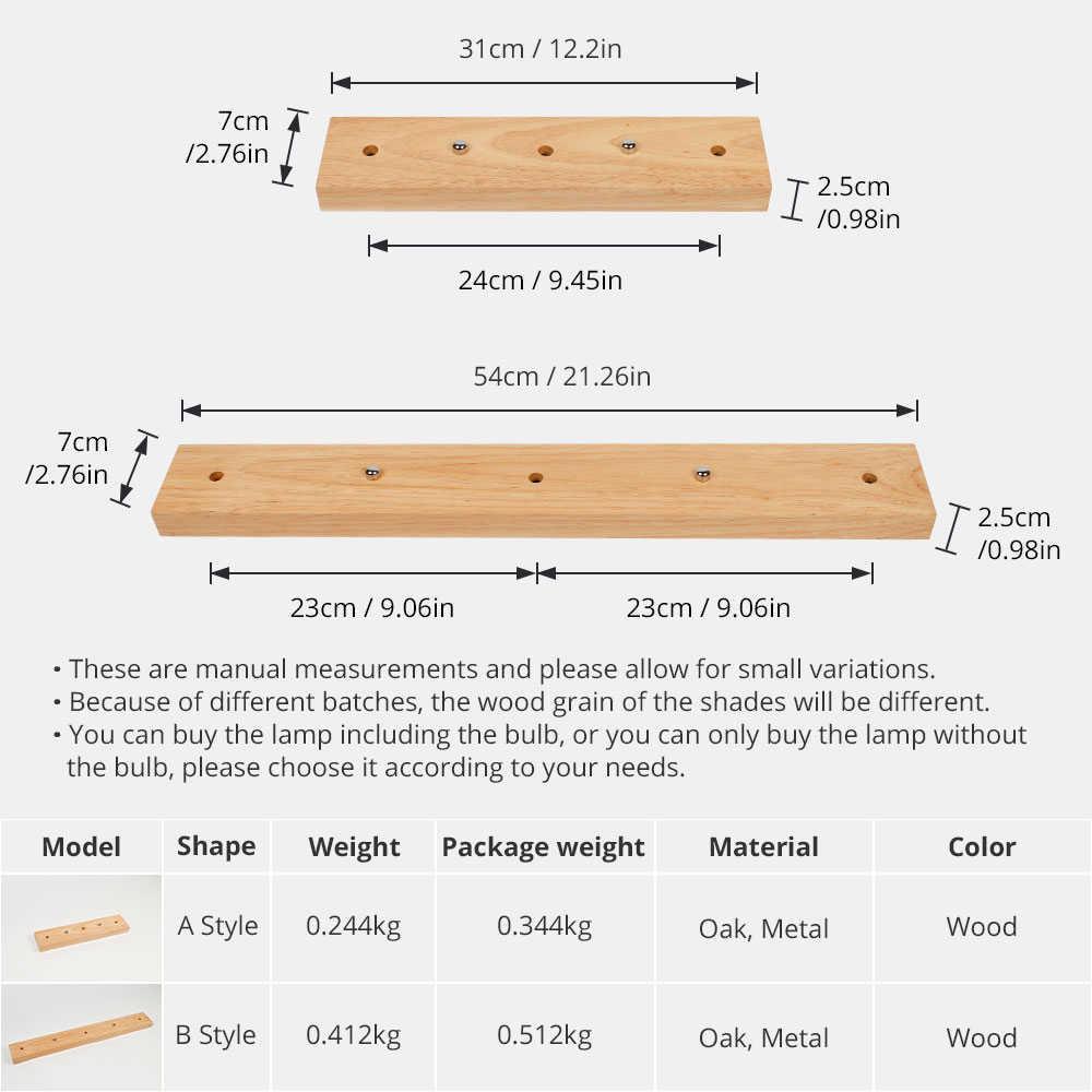 Pendant Lamp Base Nature Oak Wood Polished Base Wall Lamp Bases Pendant Ceiling Handmake Craft Home Decoration DIY Accessories