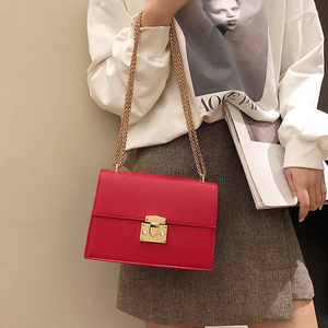 2020 Fashion small Women Bag pu Leather Chain Handbags PU Shoulder Bag Flap Crossbody Bags for Women Messenger Bags(China)