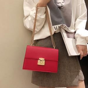 2020 Fashion small Women Bag pu Leather Chain Handbags PU Shoulder Bag Flap Crossbody Bags for Women Messenger Bags(China)