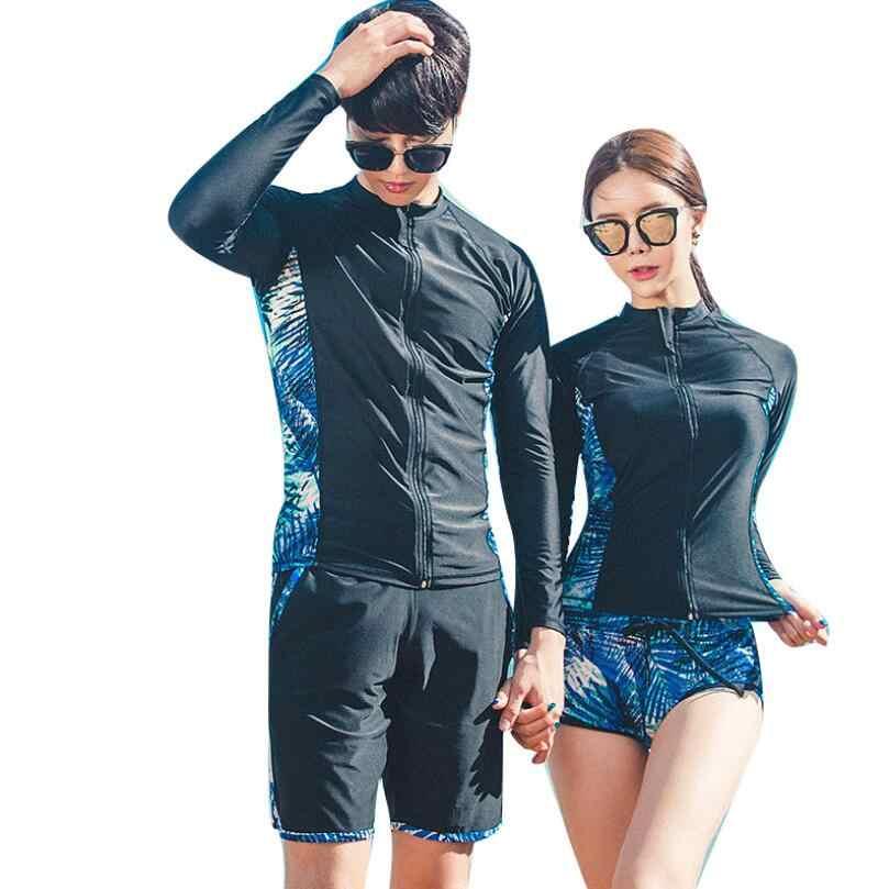 Sunny EVA K Berlaku untuk Pria dan Wanita Lengan Panjang Pakaian Renang untuk Dewasa Mungkin Ukuran Beach Suit-Olahraga-Wanita ruam Penjaga Pantai Pria