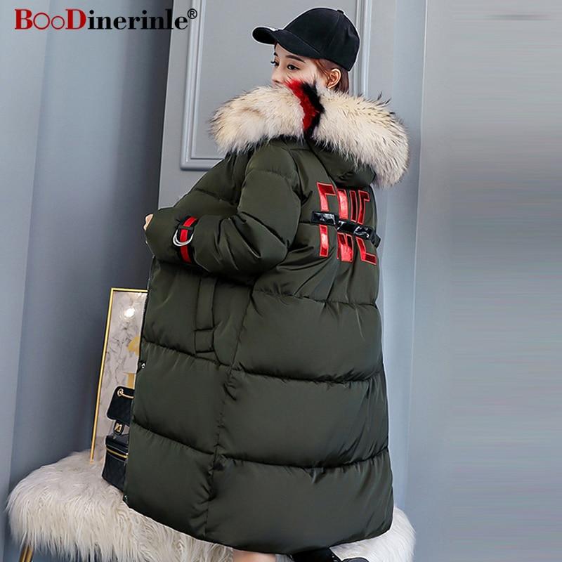 My251 Long Casual Manteau gray Femmes Impression Parkas Coton Red Beige Femme Green Pour Lettre Style Outwear black rust D'hiver army Épaississent Chaud Capuchon Européen À Veste UqnYz
