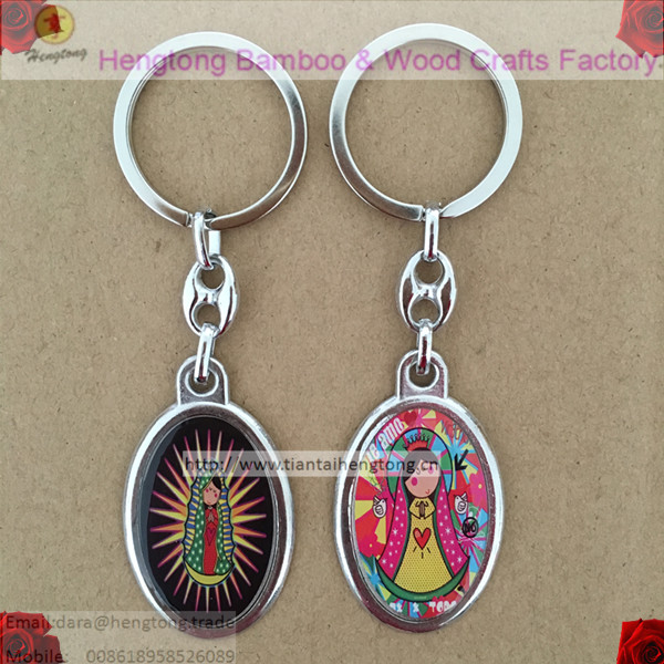 mixed 19designs Baby of Guadalulpe keyring, religious keychain, saint keyring, icon keychain with epoxy on sale