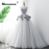 Real Pictures Candy Color Bridal Wedding Dresses With Crystals Beads Weddingdress Chapel Train Princess Wedding Dress For Bride