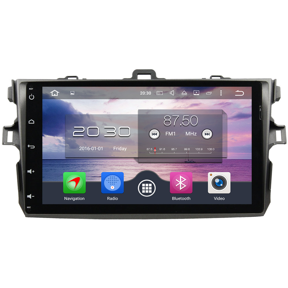 Octa Core 4GB RAM 32GB ROM Android 6.0.1 2 din Car Radio GPS Navigation Player 9 HD Touch Screen For Toyota Corolla 2006-2011