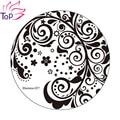 Redondo de Acero Inoxidable Polaco Nail Art Stamping Plantilla de Las Olas JH235 Placas Plantillas De Belleza Para Las Uñas