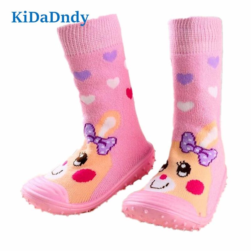 Zapatos de piso Recién nacido Antideslizante Calcetines para bebés - Ropa de bebé