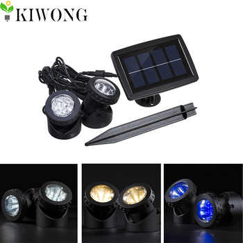 Solar Powered Super Bright Submersible Lamps IP68 Spotlight Projection Lights for Garden Pool Pond Outdoor Underwater Light - DISCOUNT ITEM  40% OFF Lights & Lighting