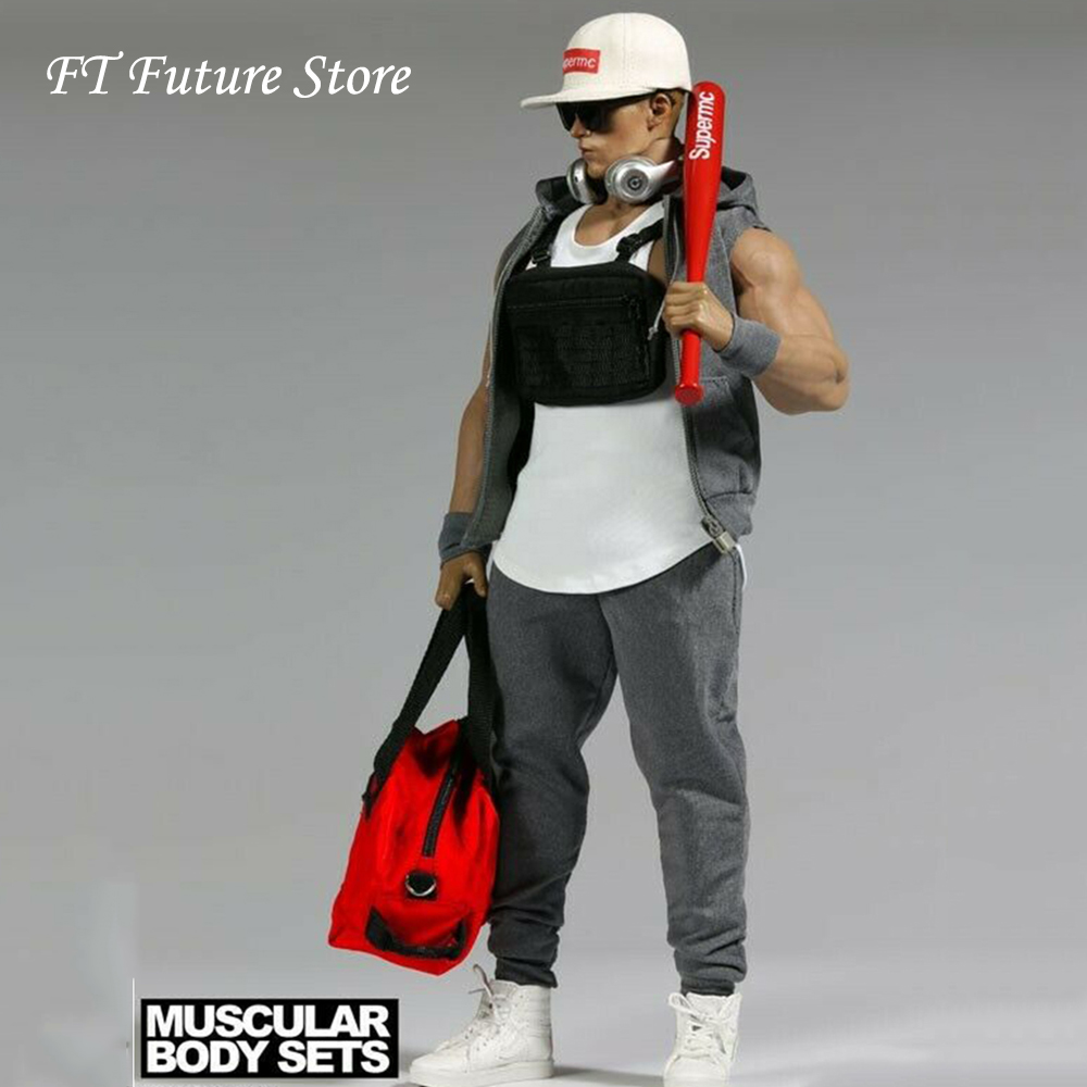 F-079 1/6 Scale Strong Muscle Man Clothes Set Clothing Baseball Cap Accessories Model for 12 Man Action Figure BodyF-079 1/6 Scale Strong Muscle Man Clothes Set Clothing Baseball Cap Accessories Model for 12 Man Action Figure Body
