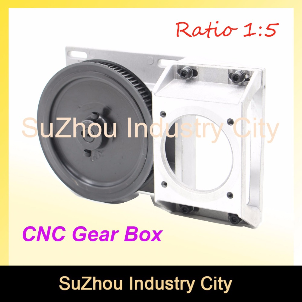 CNC Gear Box Ratio 5:1 suitable Gearbox Helical teeth/ Straight teeth gearbox 1.25 module synchronous wheel reducer box 1.25M integrated type straight tooth helical tooth belt gear box gear box gear rack and synchronous wheel reducer box cnc parts 1 5