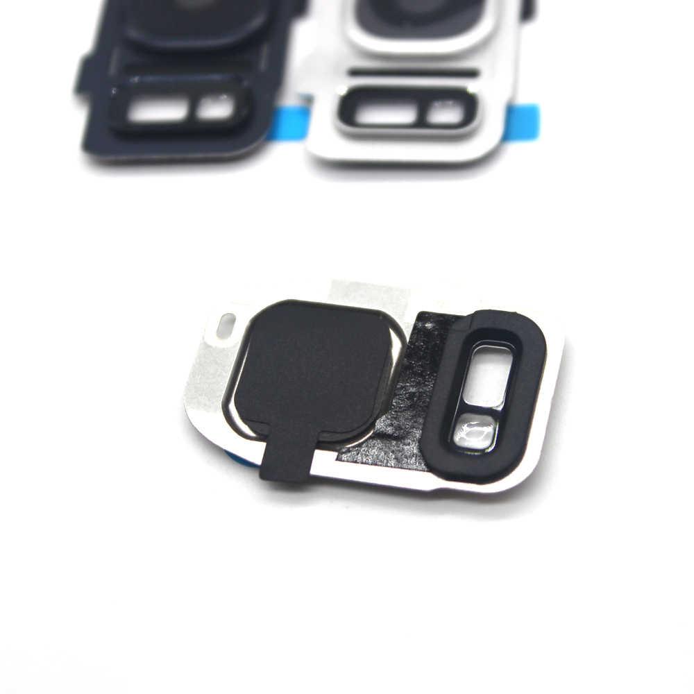 10 قطعة/الوحدة الكاميرا الخلفية كاميرا غطاء العدسة الغطاء الخلفي مع فلاش لسامسونج s7 G930A G930F s7 حافة G935 G935F