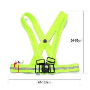 Image 2 - Новинка 2017, прочная качественная флуоресцентная зеленая светодиодная лента с usb зарядкой, светоотражающая жилетка, одежда для безопасности