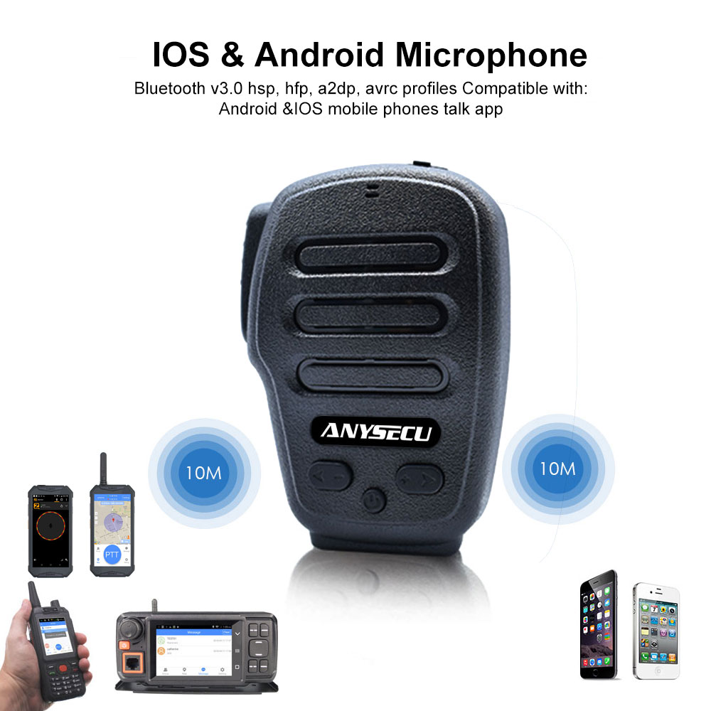 Wireless Microphone For F22 F25plus POC Radios B03 Bluetooth PTT Walkiefleet Radio Zello Mic ESchat Remote Control Handsfree