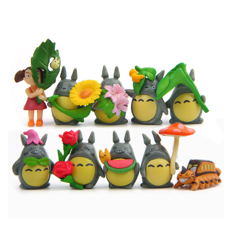 Toys & Hobbies Good 10pc/lot Hot Sale Totoro Action Figures Toys Dolls Japanese Cartoon Toys Models Cute Desk Toys Christmas Toys For Children Dolls