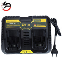 DCB102 Li ion Battery Double Charger USB Out 5V For DeWalt 10.8V 12V 14.4V 18V DCB101 DCB200 DCB140 DCB105 DCB200