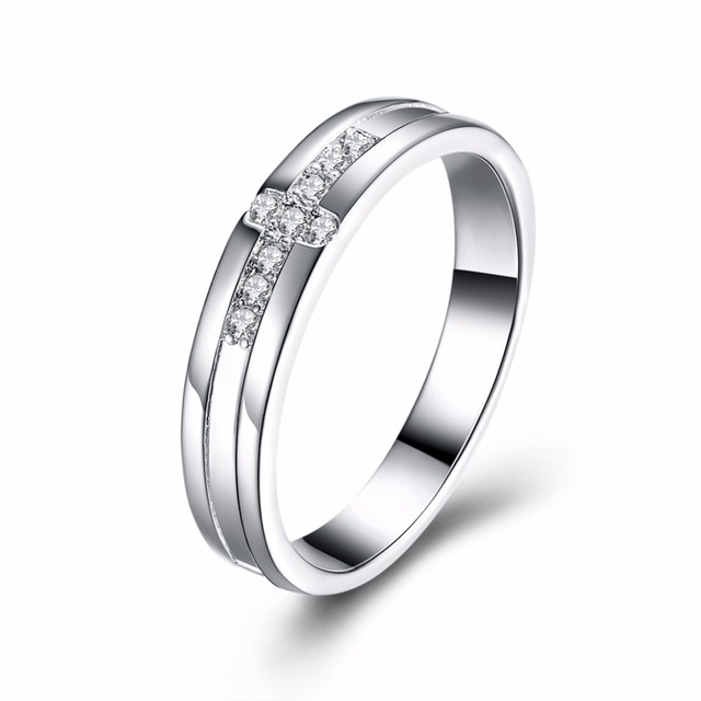 New Arrival 925 Stamped Silver Plated Symbol Of Faith Cross Rings For Men Luxury Fashion Jewelry Devout Finger