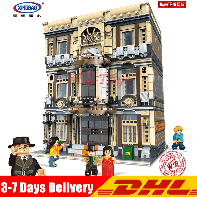 DHL XingBao 01005 5052Pcs Creative MOC City Series The Maritime Museum Set Children Building Blocks Bricks Toys Model Gifts