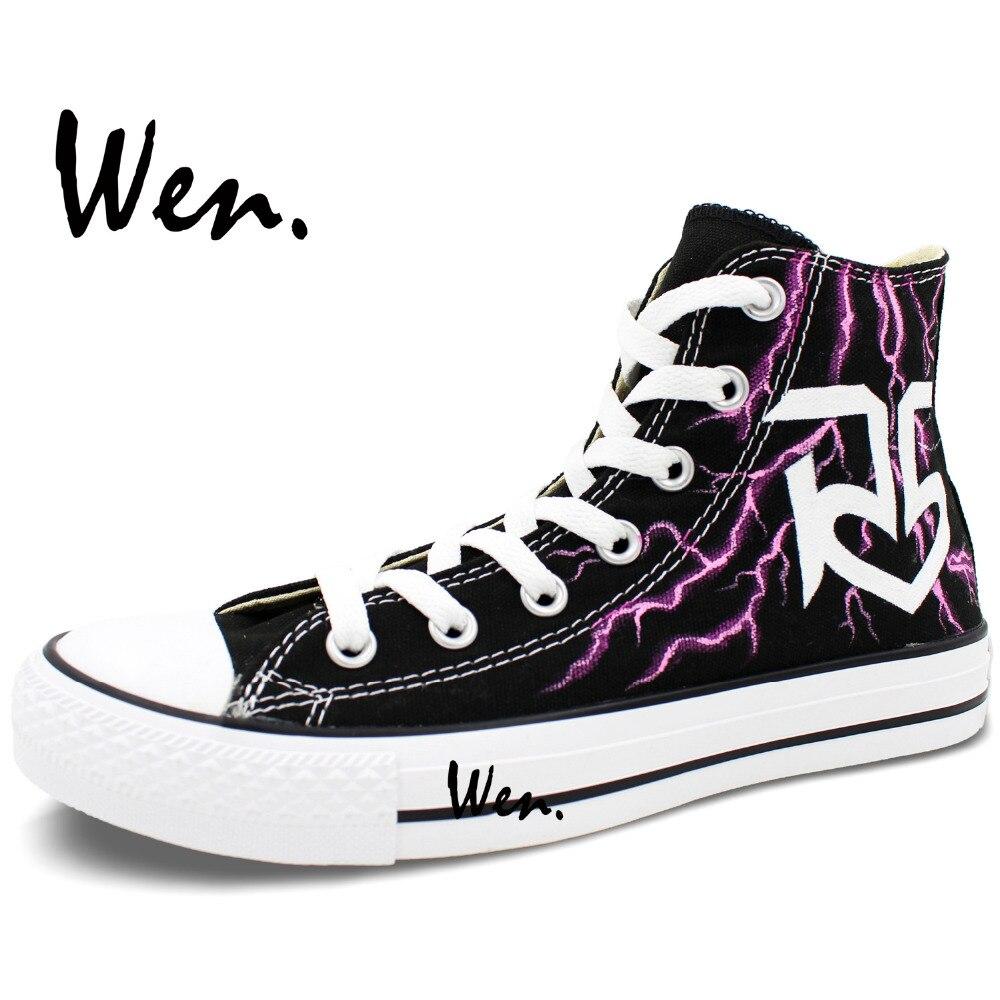 Wen Ručno oslikane cipele Dizajn Custom Lightning R5 Muškarac - Tenisice - Foto 3