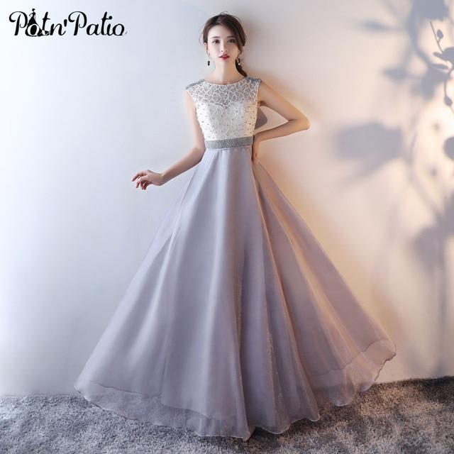 Aliexpress Buy Potnpatio Elegant Evening Gowns Long 2017 New