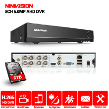 NINNIVISION DVR 8CH Camera 5MP TVI/CVI/AHD/IP/CVBS 5 in 1 DVR NVR Digital Video Recorder CCTV Security System Surveillance