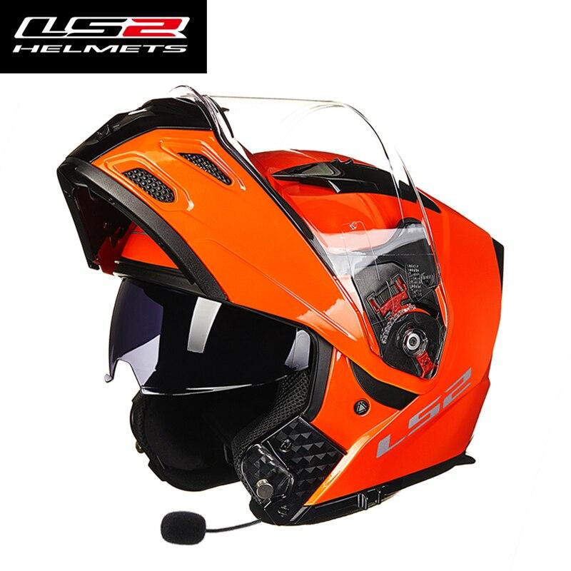LS2 FF324 multifunction motorcycle helmet bluetooth headset moto racing helmets dual lens antifogging helmet full face