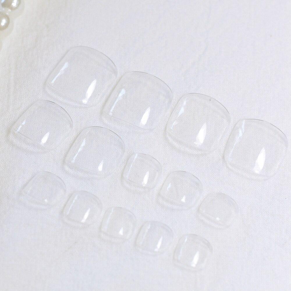 Прозрачные искусственные ногти на ногах, Модные Цветные ногти на ногах, 24 шт., прозрачные акриловые накладные ногти на ногах fake toenails toe nailstoe tips   АлиЭкспресс