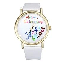 Watch Women Watches 2017 Bracelet Casual Female Clock Men Leather Wathever I am Late Anyway Letter Print Relogio Feminino