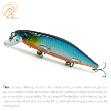 Thritop Minnow Lure New Fishing Bait 13g 110mm TP080 Artificial Hard Slowly Sinking Carp Tackle Tools