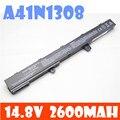 0b110-00250100, a41n1308 a31lj91 a31n1319 reemplazo para asus x451, x551, x451c, x451ca, x551c, x551ca batería del ordenador portátil