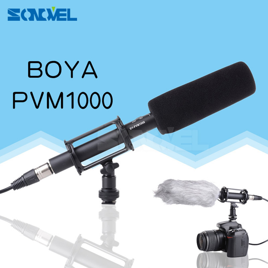 BOYA BY-PVM1000 Professional DV DSLR Condenser Shotgun Microphone Video Interview Reporting for Canon Nikon Sony DSLR Cameras цена