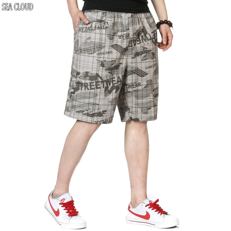 Shorts Male Trousers Knee-Length Hiphop Plus-Size 6xl Big 82 Loose