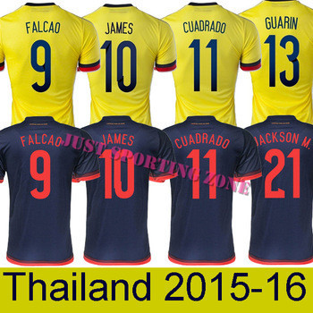 e3dd2e26ffc Camisa Colombia Soccer Jeseys,Chandal Colombia Jersey 2016 FALCAO JAMES  RODRIGUEZ Women Men Thai Camisetas Colombia Soccer Shirt