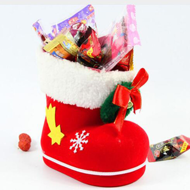 Christmas Decoration Santa Claus Gift Boots Candy Gift Bag Chocolate Box Christmas Tree Pendant Home Decoration HOYVJOY in Party DIY Decorations from Home Garden