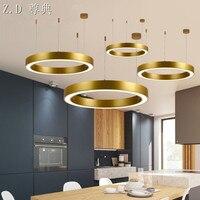 Postmodern Round pendant light Circle Living Room Restaurant Bedroom Study Hotel Lobby LED Simple Creative pendant lamp wl491642