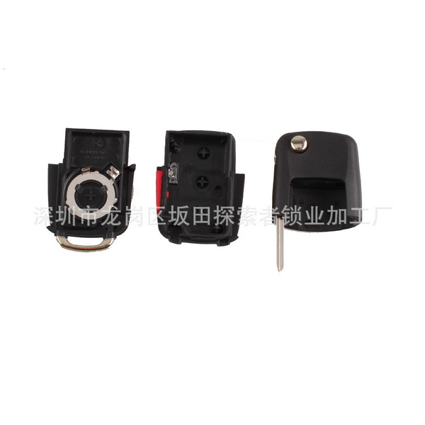 DHL или FedEx 100 шт. складной 3 кнопки автомобиля дистанционного чехол для выкидного ключа чехол Брелок для Volkswagen Golf Passat без лезвия