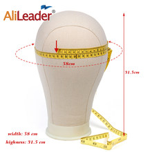 "AliLeader Canvas Block Head Making Wigs Mannequin Head Hat Wig Hair Display Stand Model Styleing 21"" 22"" 23"" 24"" 25""(China)"