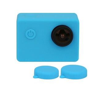 Image 5 - Silicone Case For SJCAM SJ4000 WIFI SJ5000 SJ7000 SJ9000 Soft Protective Cover For Eken H9 H9r GoPro Hero 3 Series Action Camera