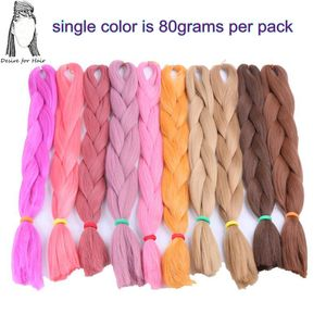 Image 5 - Desire for hair 4packs per lot 24inch 100g 2 tone three tone ombre color synthetic braiding box braids hair black grey burgundy