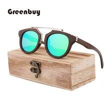 Lunettes de soleil classiques en bois bambou Vintage pour hommes haute qualité Cadre fait main polarisé TAC Lens