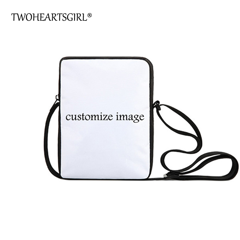 TWOHEARTSGIRL Custom Women Messenger Bags Personalized Mini Men Messenger Bag Designer Children Boy Girls Travel Crossbody Bags