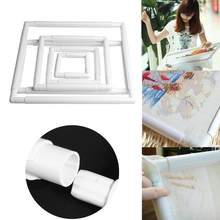 4 Size Plastic Embroidery Frame Hoop Square Shape DIY Cross Stitch Craft Needlework Sewing Hoop Embroidery Tools(China)