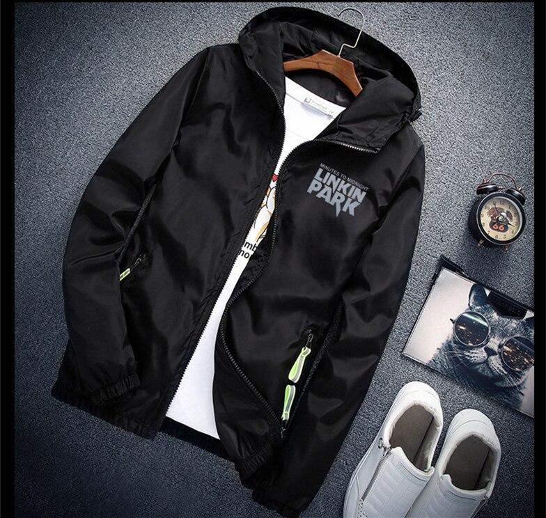 Cap come Regalo S per 7XL più il formato Linkin park luce giacca-riflettente delle donne degli uomini di giacca a vento hip hop Rapper giacca con cappuccio del cappotto