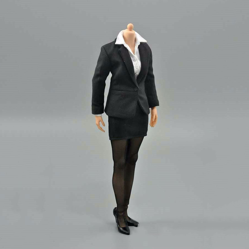 1/6 Female Business Office Pencil Skirt Suit Set Clothes Model Toys For 12 Female Action Figures Body Accessory 1 6 purple female sexy leather skirt dress suit clothing model toys for 12 female action figures body accessory