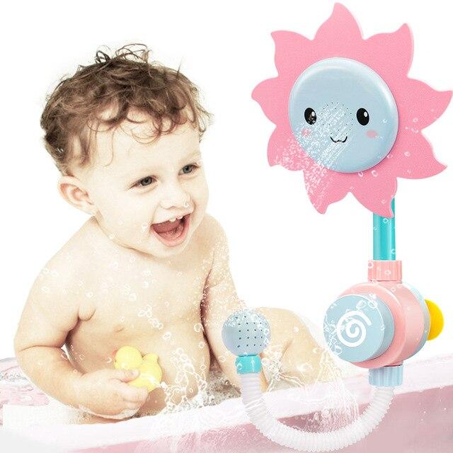 Baby Badespielzeug Kawaii blume Dusche kinder Schwimmen Pool ...