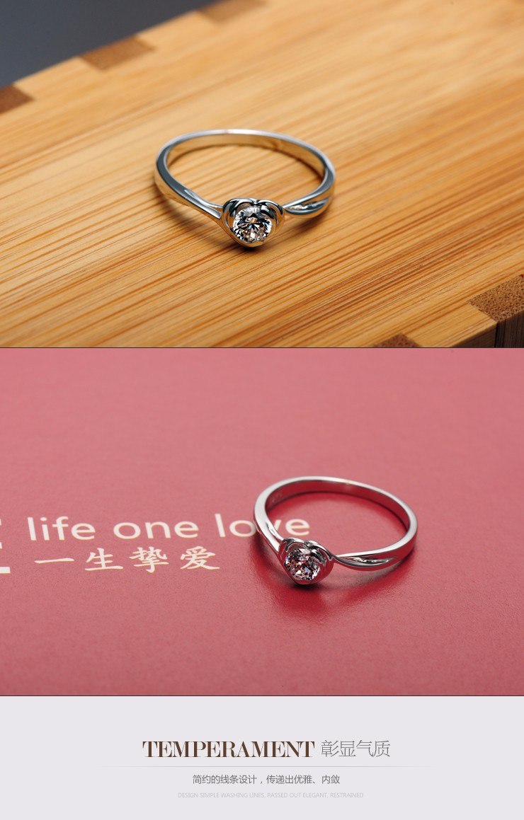 0.4Ct Pizzazz Gift for Her 925 Sterling Silver Setting Proposal ...