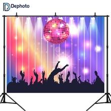 YongFoto 10x9ft Cartoon Music Device Backdrop Yellow Tape Headset Photography Background Nightclub Bar Pub Disco Dance Hall Decor Kids Adult Portrait Photo Shoot Studio Props Wallpaper